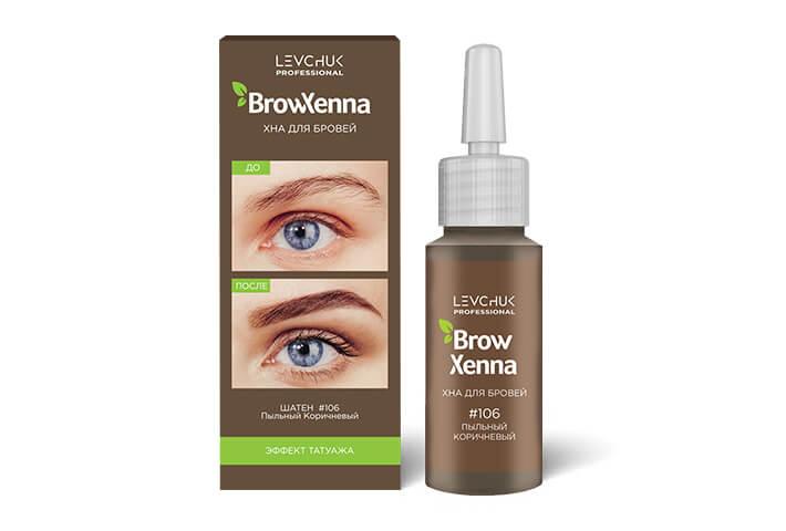 BrowXenna® хна для бровей флакон штучно ШАТЕН (BrowHenna)
